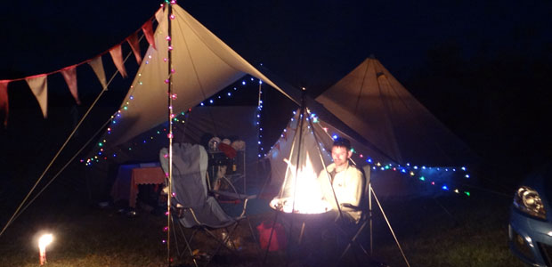 Camp Fire in North Norfolk