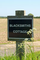 Blacksmith's Cottage nameplate